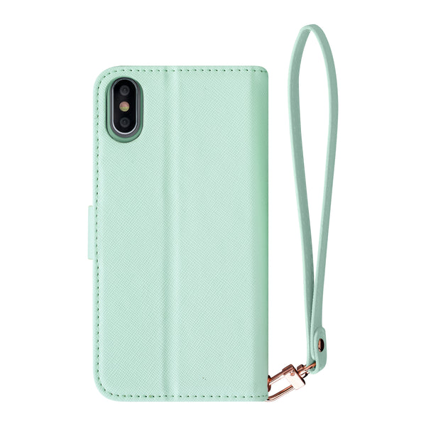Mint - 2-in-1 Wristlet Folio- Habitu Co.