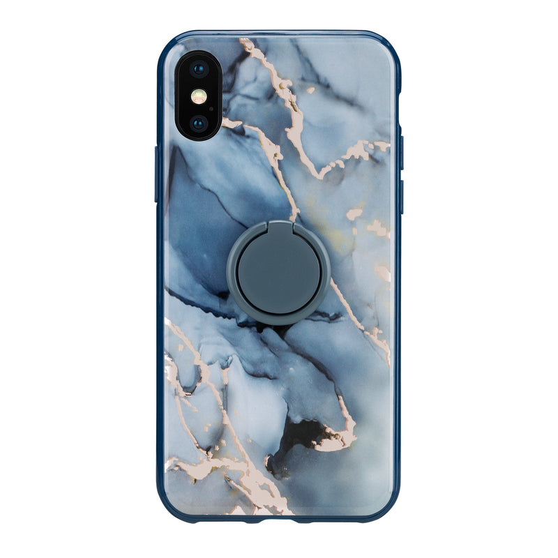 Rosa Blue - Hybrid Phone Case + Ring- Habitu Co.