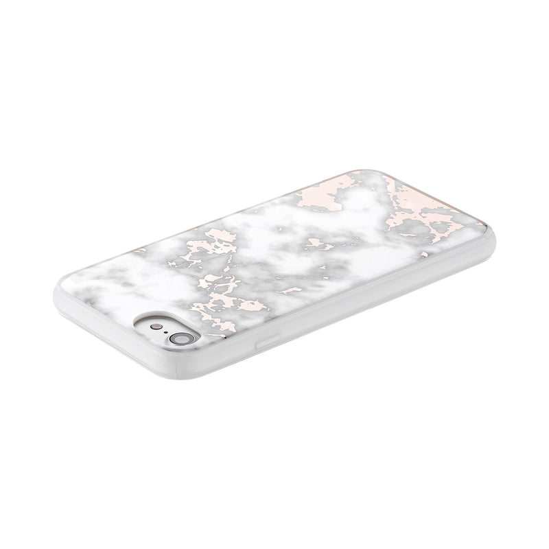 Rose Gold White Marble - Hybrid Phone Case- Habitu Co.