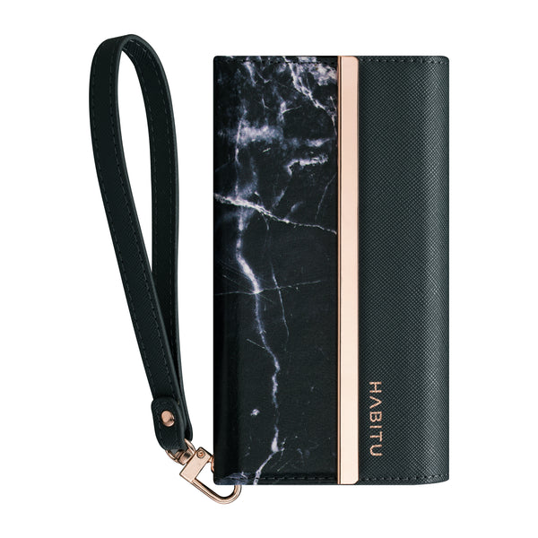 Black Marble - Tri-fold Folio- Habitu Co.