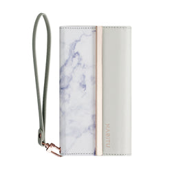 White Marble - Tri-fold Folio- Habitu Co.