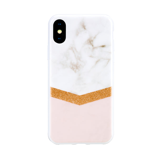 Sierra Rose Gold Glitter - Hybrid Phone Case- Habitu Co.