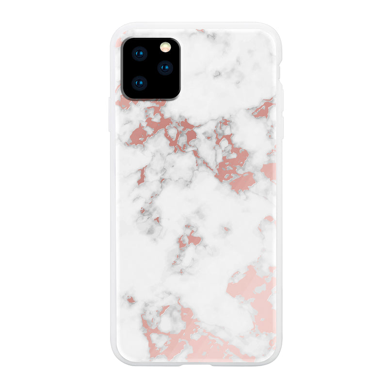 Rose Gold White Marble