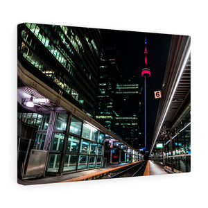 City Train Tracks Canvas
