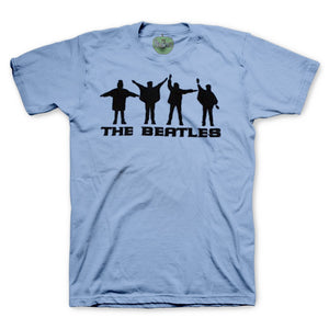 The Beatles Help! Silhouettes - Mens Light Blue T-Shirt