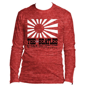 The Beatles Rising Sun - Mens Cardinal Long Sleeve T-Shirt