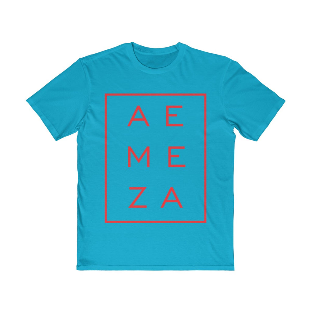 A.E. Meza Red Vertical Rectangle Tee