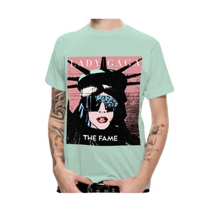 Lady Gaga The Fame - Womens Sea Blue T-Shirt