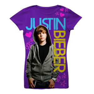 Justin Bieber Felt Pen - Youth Purple Towel