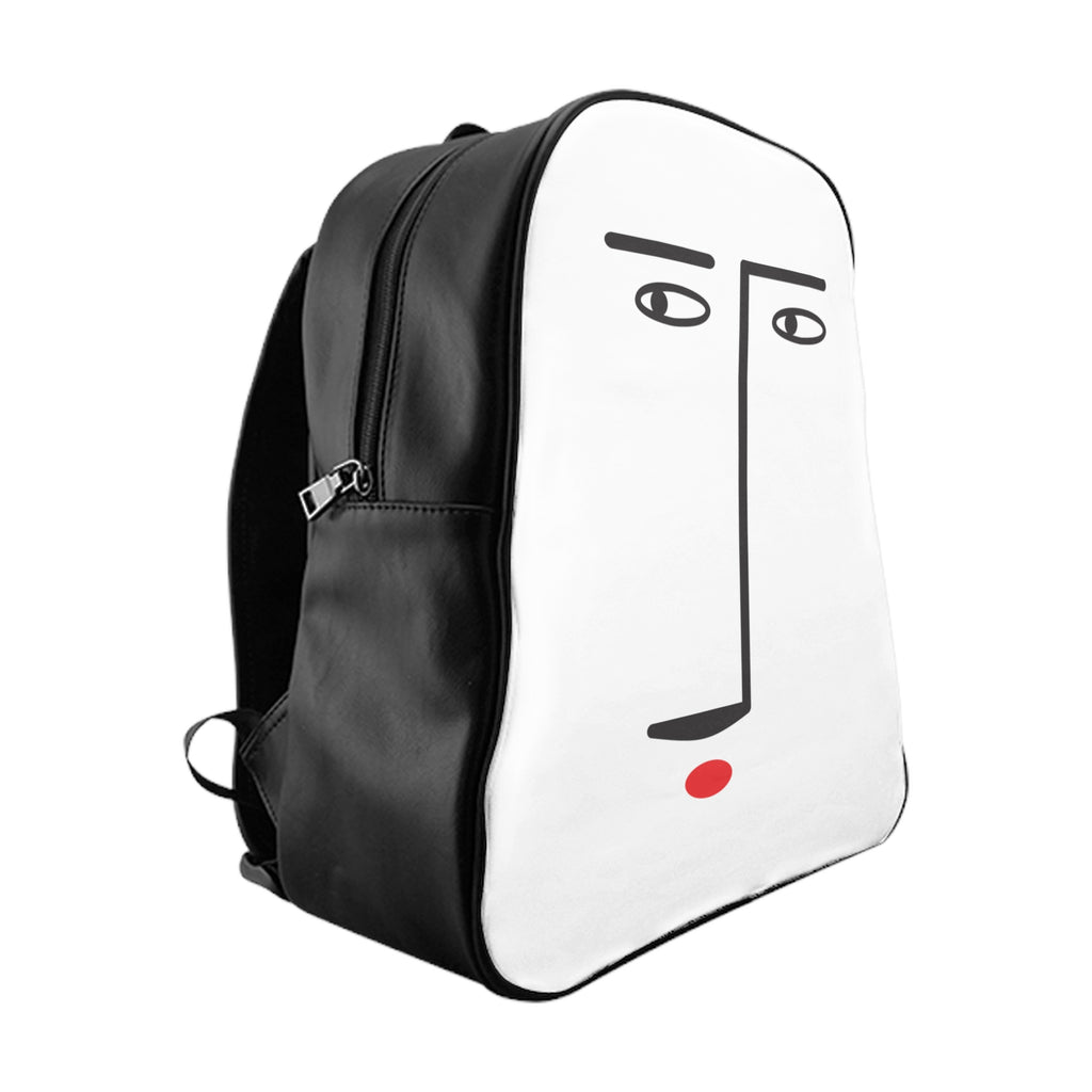 Abstract Face School Backpack