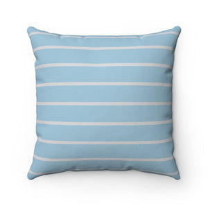 Light Blue and Light Gray Spun Polyester Square Pillow