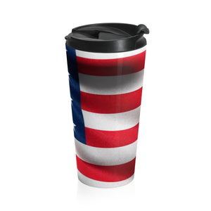 American Flag 3 Stainless Steel Travel Mug