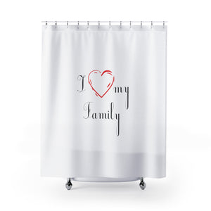 I Love My Family, Nice Heart, Shower Curtain