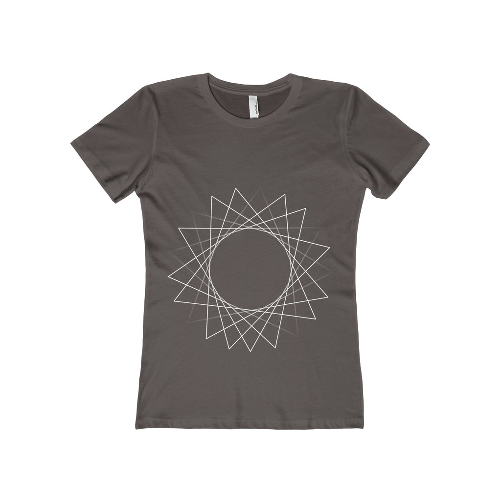 White Rotating Triangle Women's The Boyfriend Tee