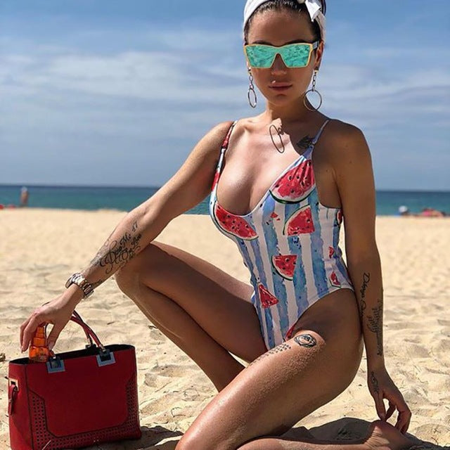 Sexy Enchanting Watermelon Swimwear Bikini Print
