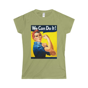 We Can Do it !!! Softstyle Women's T-Shirt