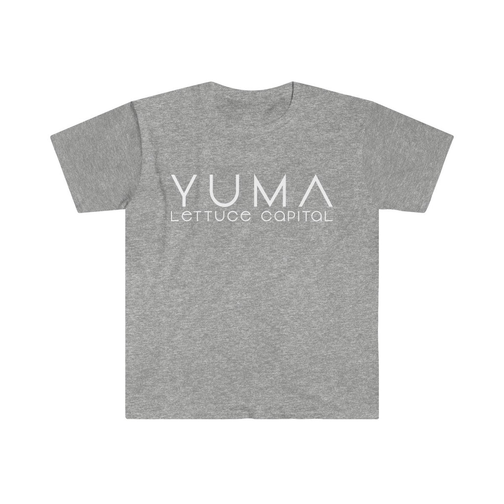 Yuma Lettuce White Men's Fitted Short Sleeve Tee