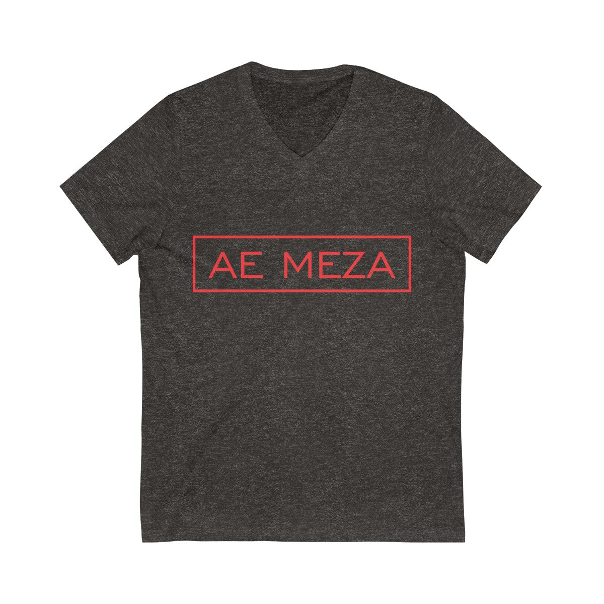 A.E. Meza V-Neck Tee Red Logo