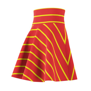 Red and Yellow Women's Skater Skirt