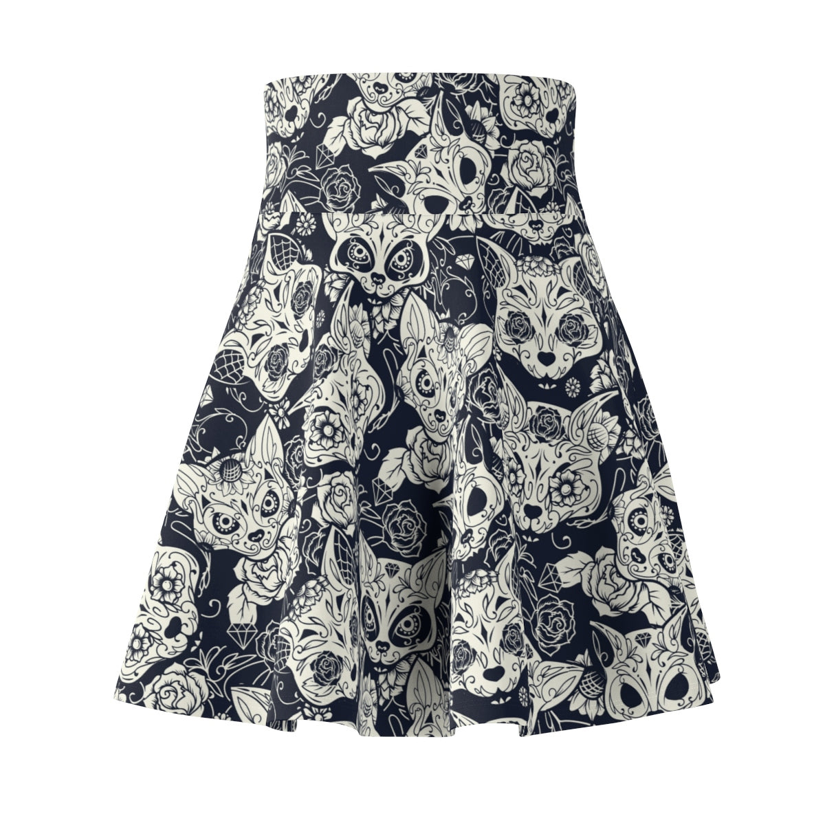 Fox Sugar Skull Women's Skater Skirt