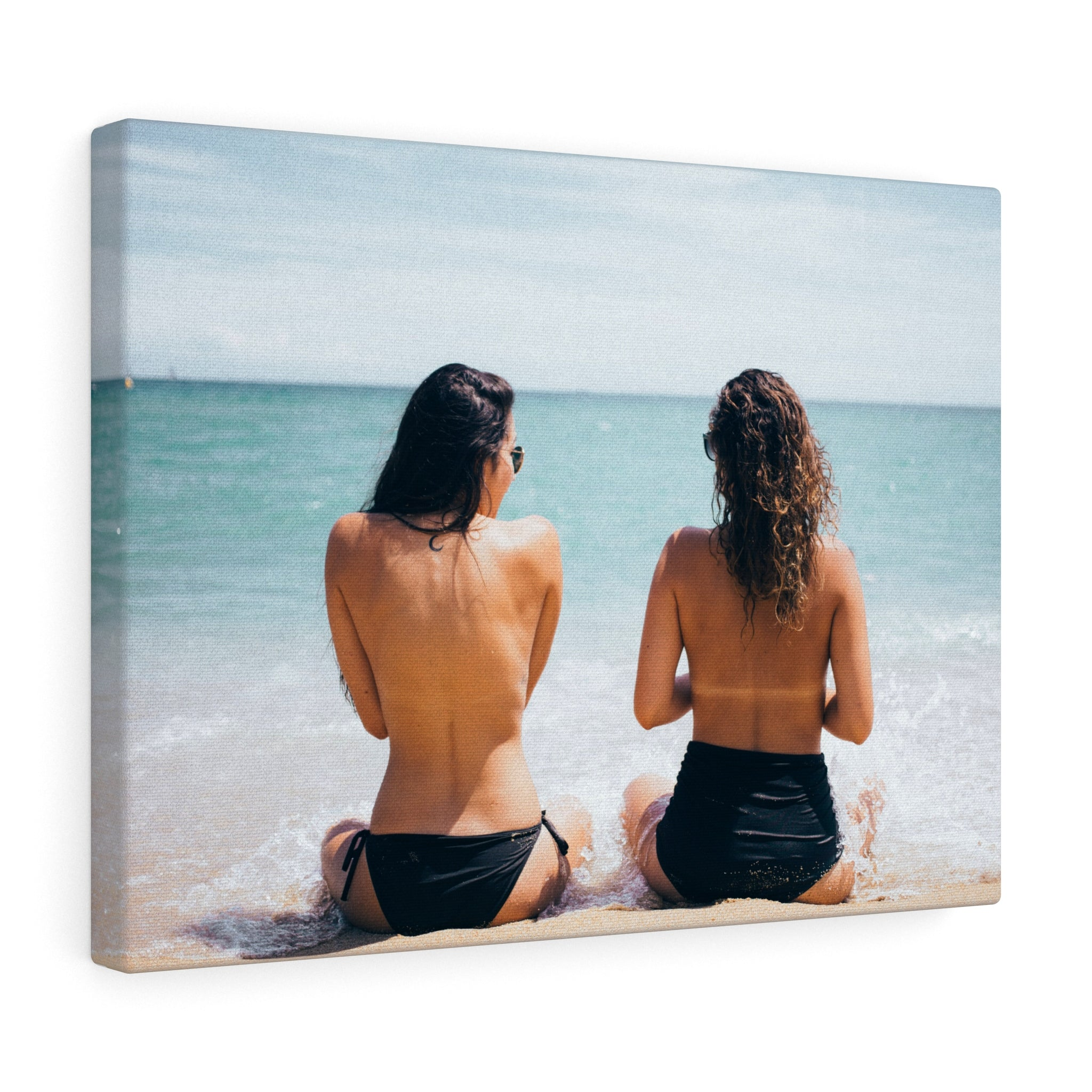 Girls Sunbathing Canvas