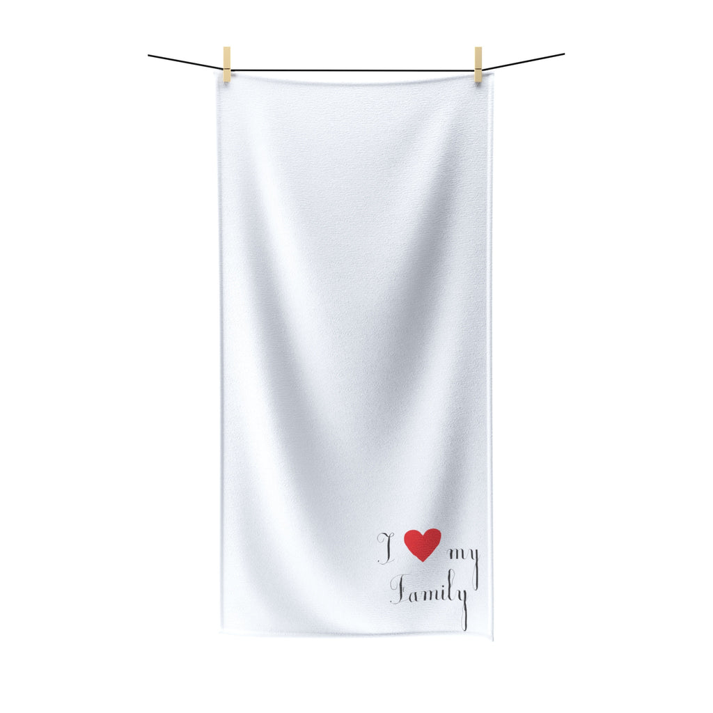 I Love My Family, Fill Heart Polycotton Towel