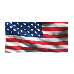 American Flag 3 Beach Towel