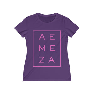 A.E. Meza PINK Vertical Rectangle Missy Tee
