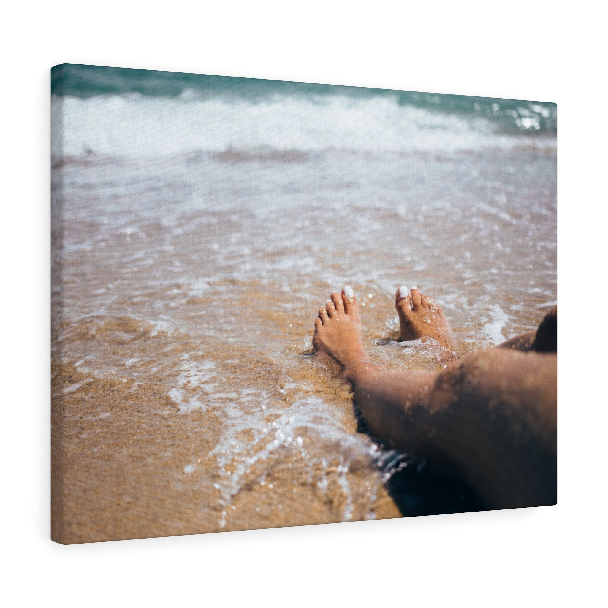 Girl Sand Sea Canvas