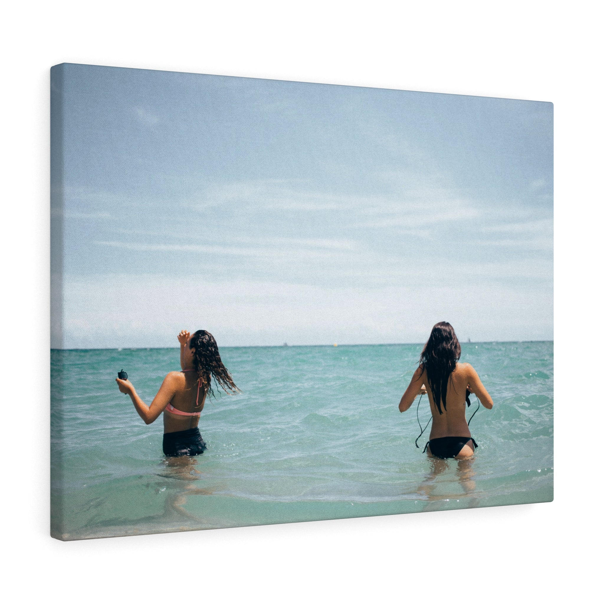 Girls on the Ocean Canvas