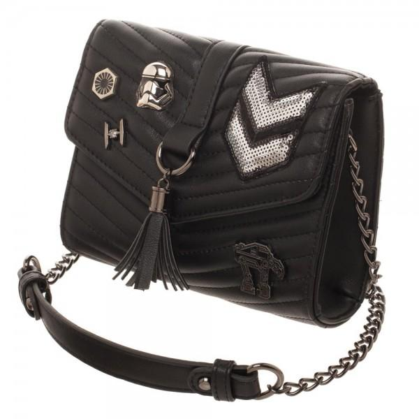 Dark Side Quilted Crossbody Bag With Tassel