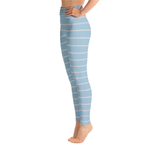 Light Blue and Light Gray Yoga Leggings