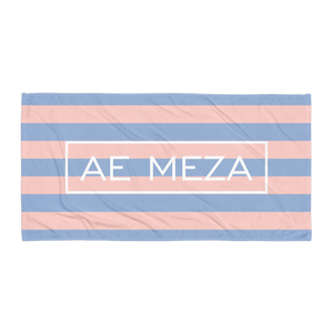 A.E. Meza PINK and BLUE Beach Towel Blanket