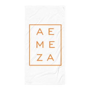 A.E. Meza ORANGE Beach Towel Blanket