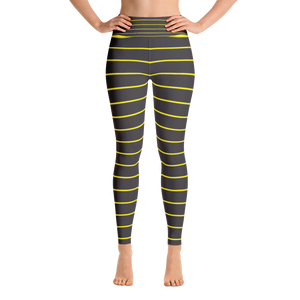 Black and Yellow Yoga Leggings