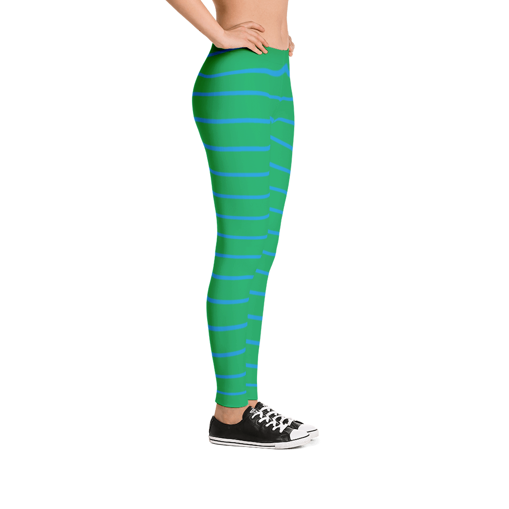 Green Blue Leggings