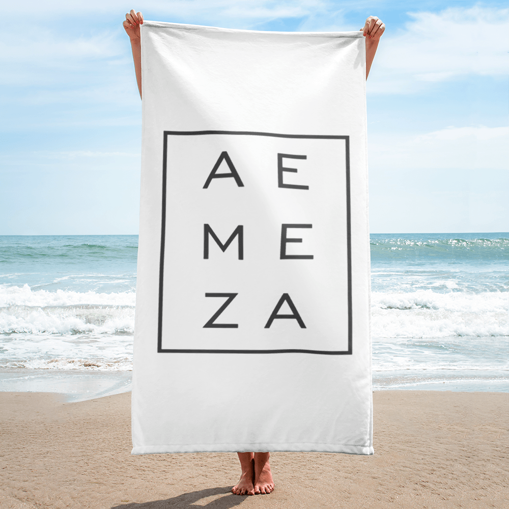 A.E. Meza GRAY Beach Towel Blanket