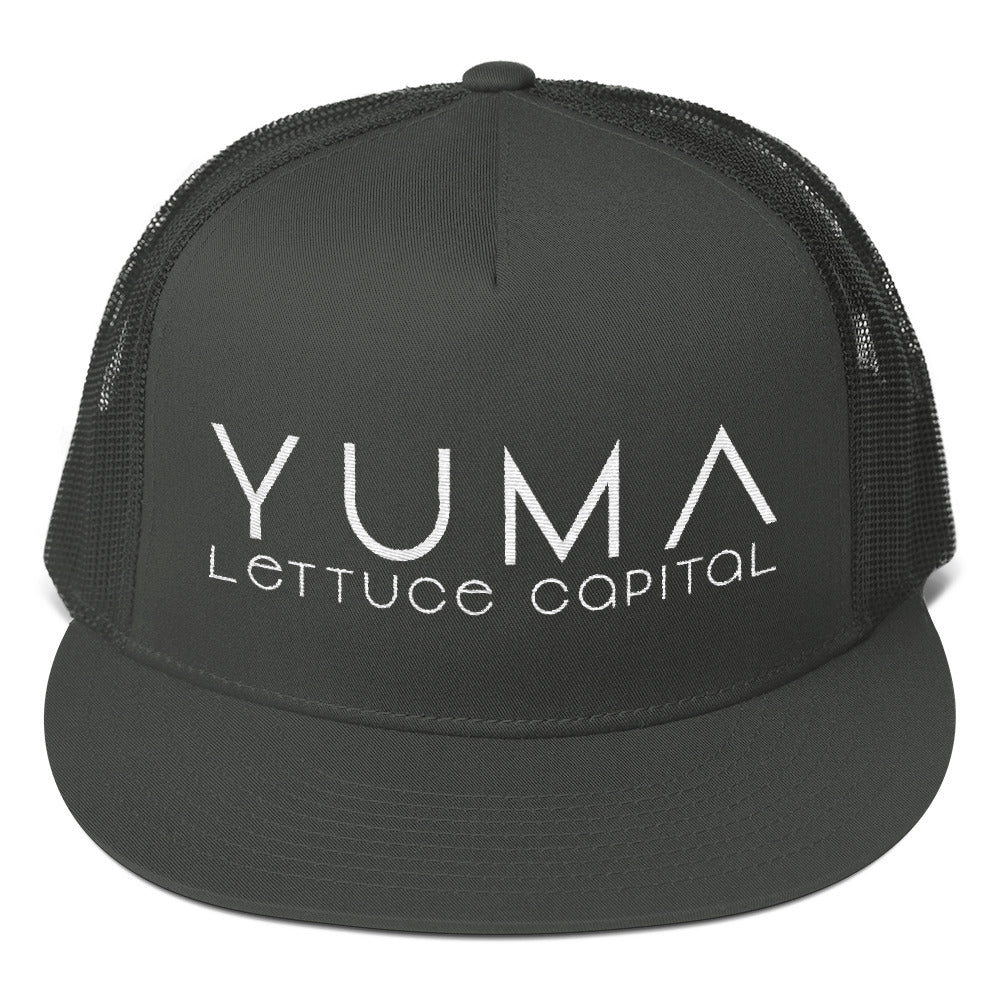 Yuma Lettuce Capital of the World White Trucker Cap