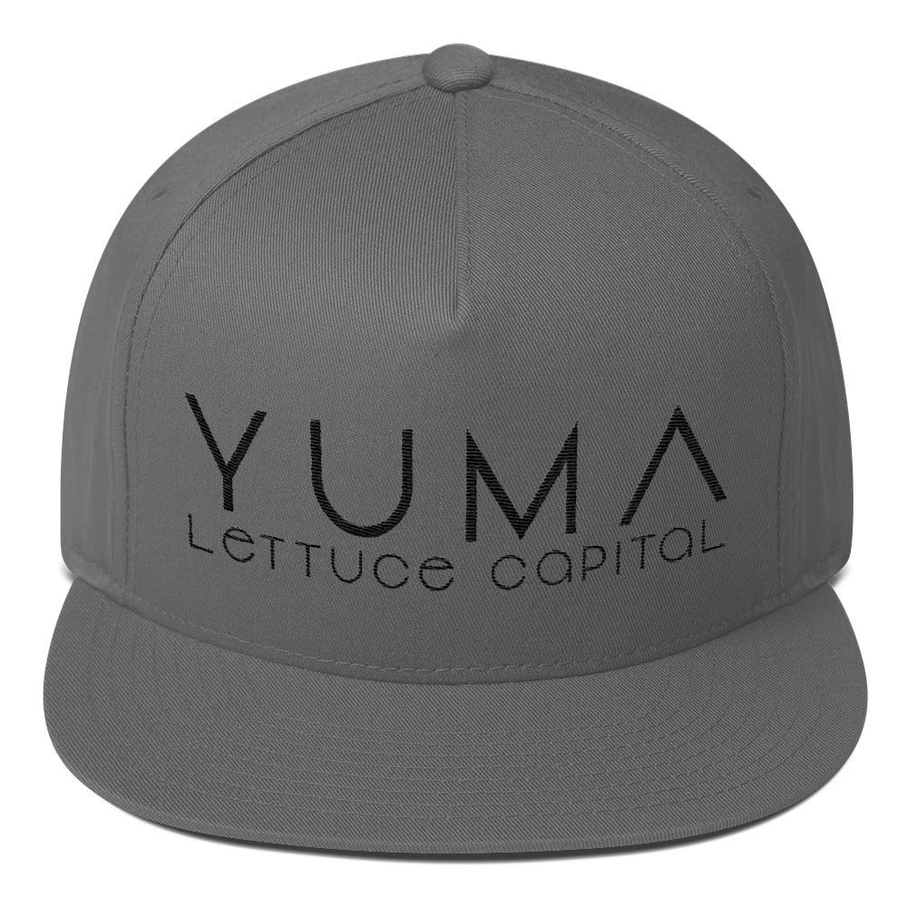 Yuma Lettuce Capital of the World Black Flat Bill Cap