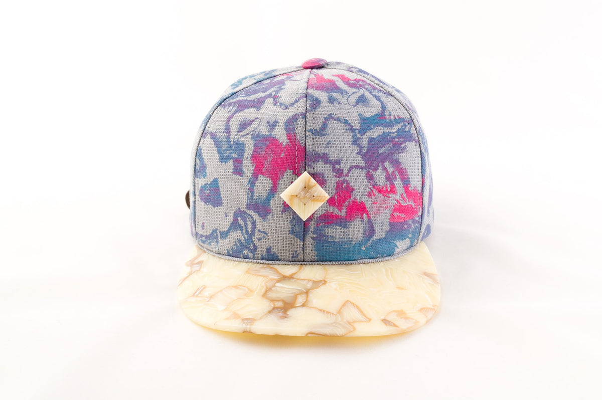 handmade snapback hat with cellulose acetate brim
