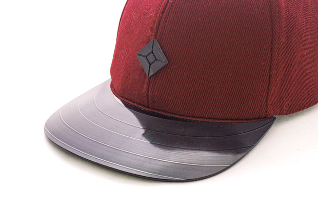 Vinyl brim snapback hat recycled clothing AUSTRA