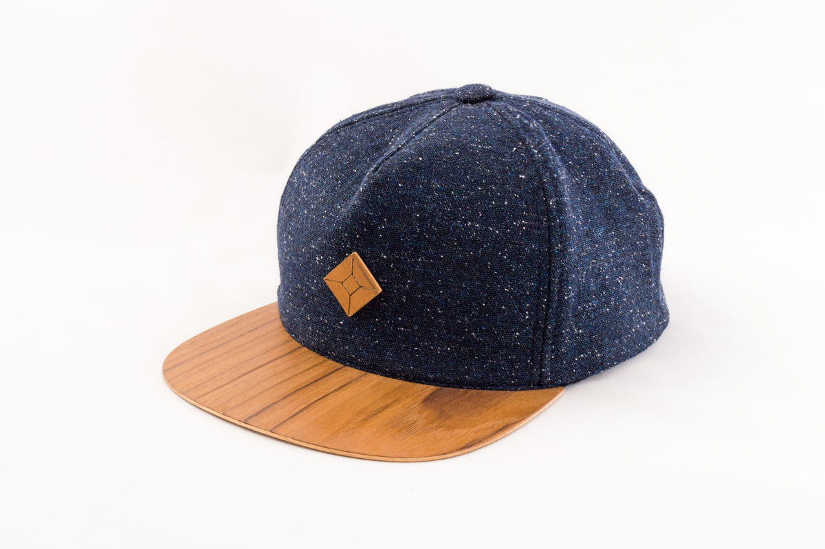 wooden brim hat