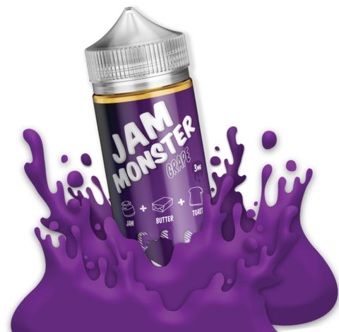 Jam Monster - Grape 100ml 0mg | UK Eliquid Station
