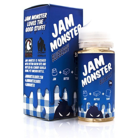 Jam Monster - Blueberry 100ml 0mg | UK Eliquid Station