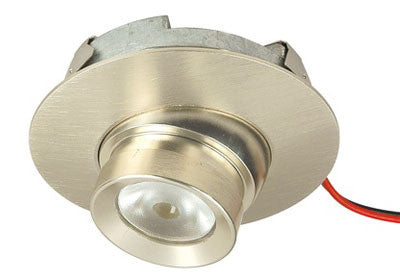 Richelieu LED 3W Invoke Recessed Swivel - Round - Brushed Nickel - Warm White