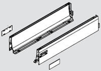"Blum TANDEMBOX Design Element Drawer Profile Set - Stainless Steel - 18"" - 358L4502IA2"
