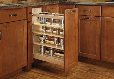 "Rev-A-Shelf 448-BCSC Series Soft-Close Base Cabinet Organizer - 5"" - 448-BCSC-5C"