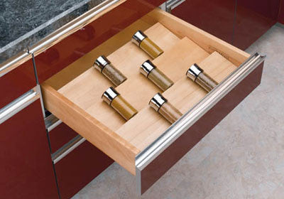 Rev-A-Shelf 4SDI Series Wood Spice Drawer Insert - 4SDI-24