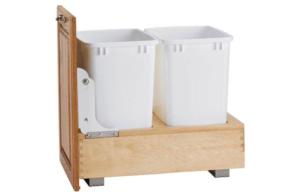 Rev-A-Shelf 4WC Series Double 35 Qt Bottom Mount Trash Pullout - 4WC-18DM2