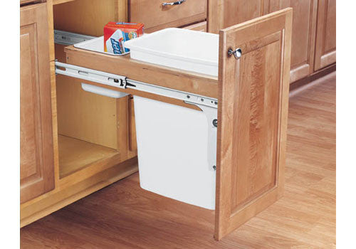 Rev-A-Shelf 4WCTM Series Single 35 Qt Top Mount Trash Pullout - 4WCTM-12DM1